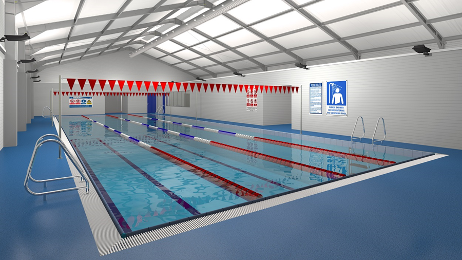 Andover leisure centre test valley borough council for Swimming pool treatment options