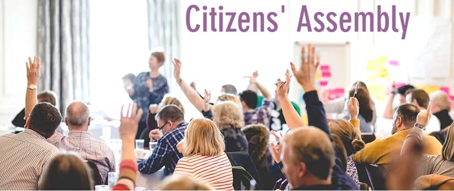 Residents working together at the citizens' assembly