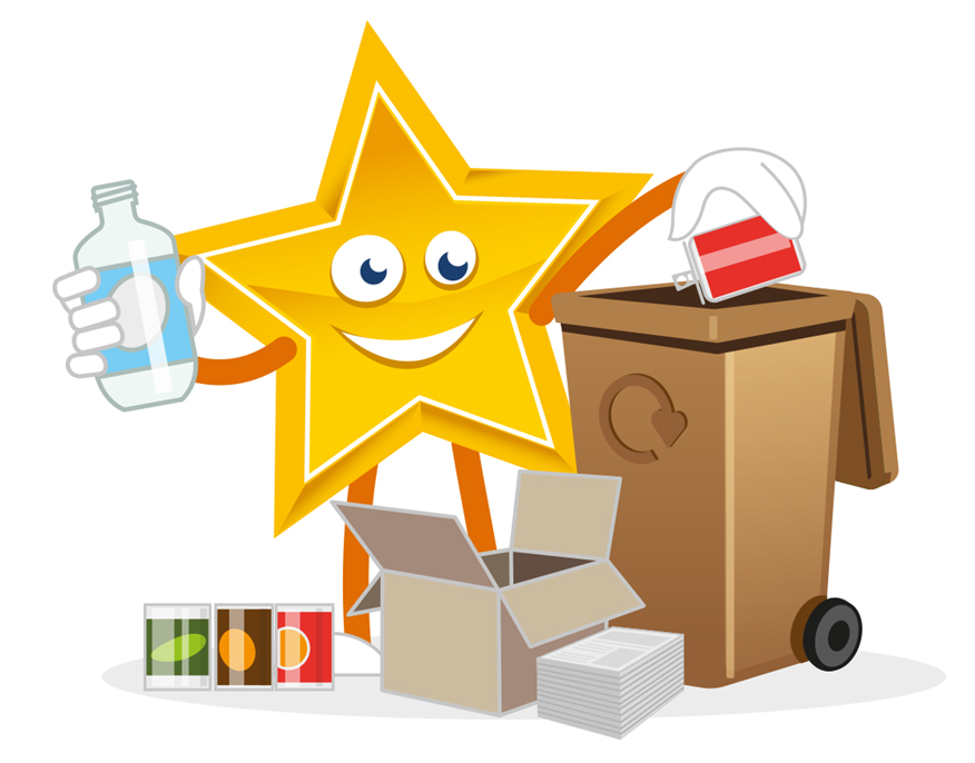 Brown Bin Recycling Star