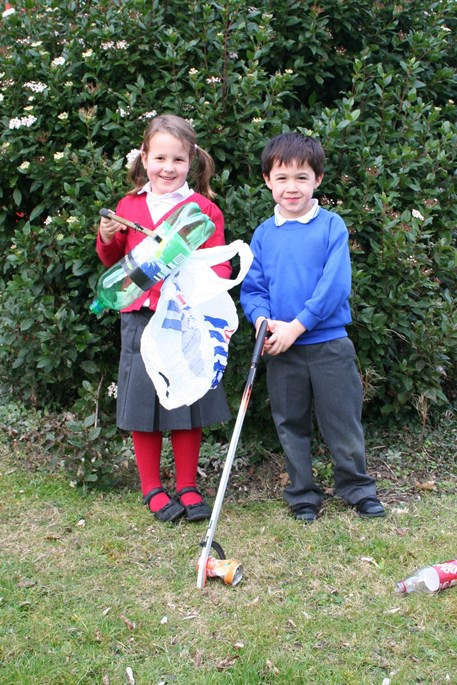 School Children Litter Picking