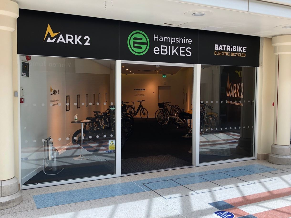 Hampshire eBikes shopfront