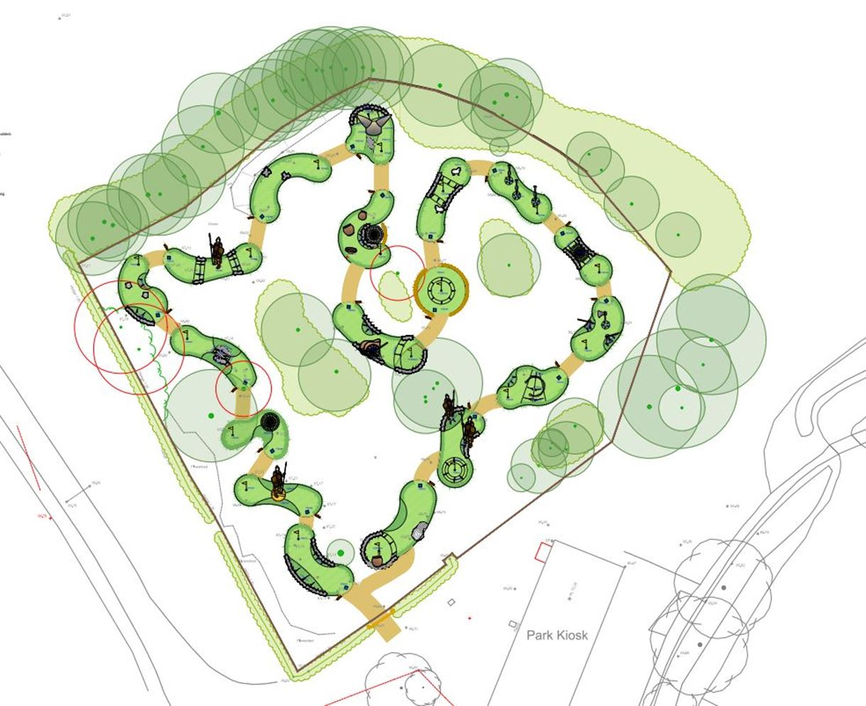 plans for Adevnture golf at charlton lakeside