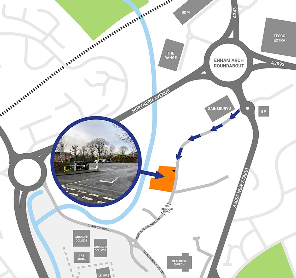 Shepherds Spring Lane testing centre directions