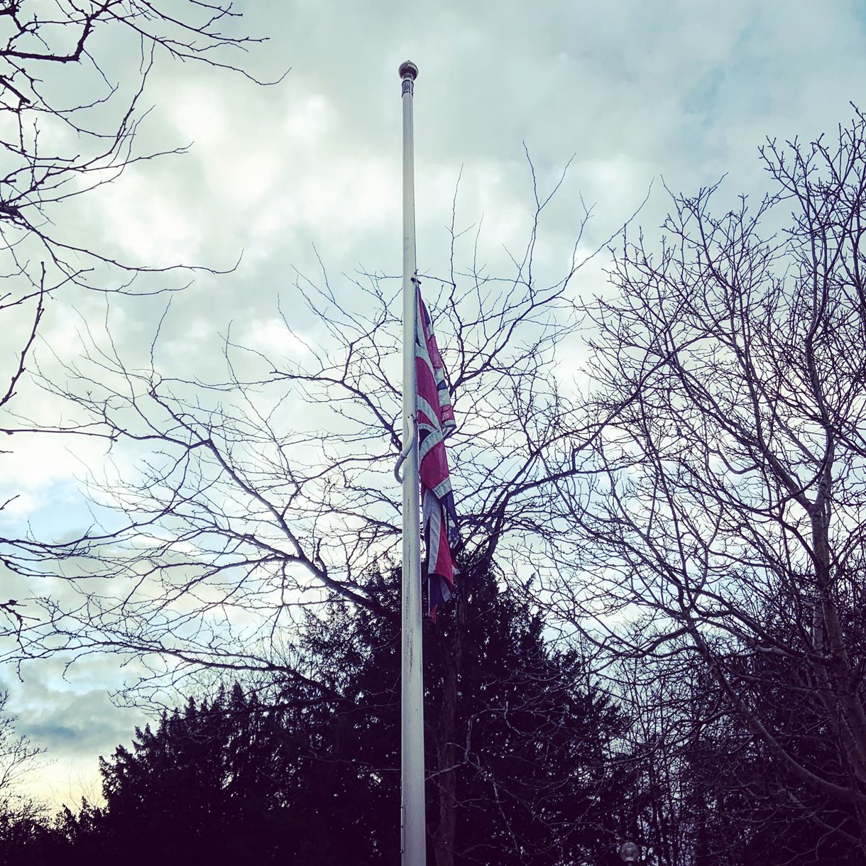 Flag flying at half-mast for Holocaust Memorial Day