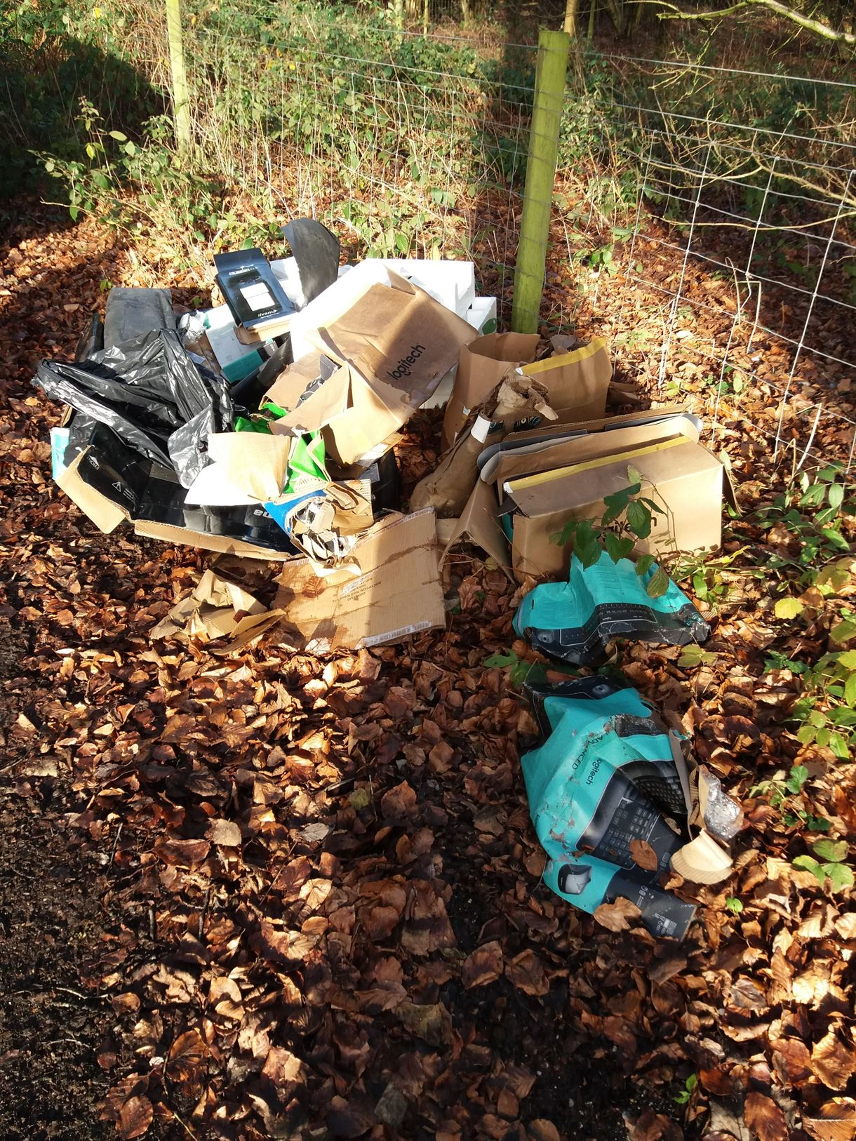 Hart fly tip - The waste that was dumped near King's Somborne.