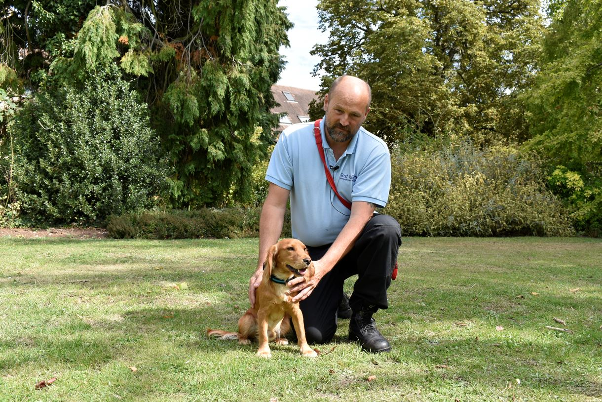 Rod Mason, TVBC Animal Welfare Officer with his dog, George.