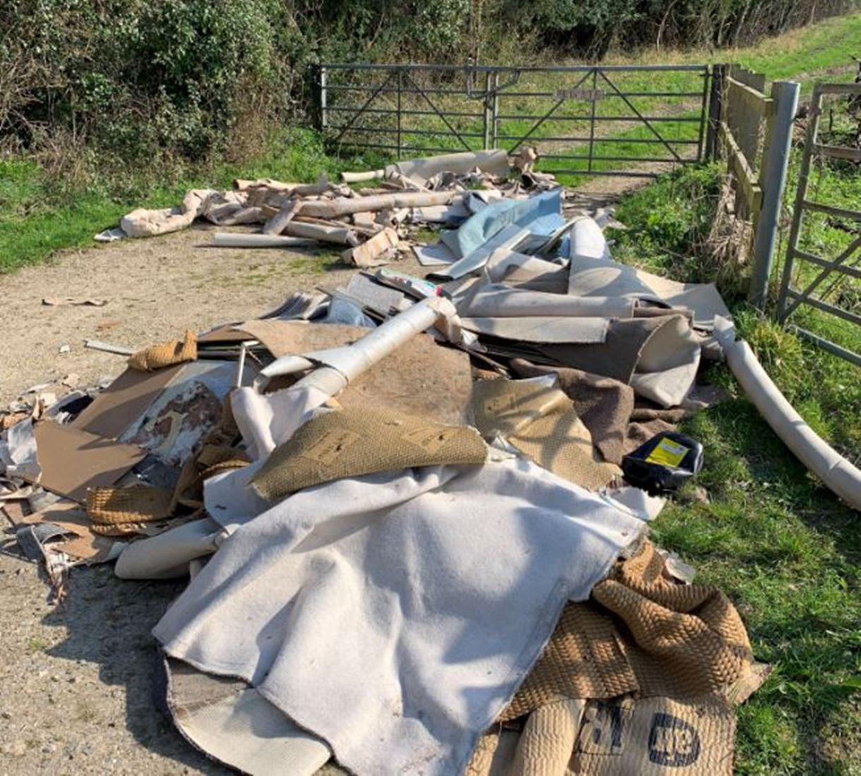 Bullington Lane fly-tip